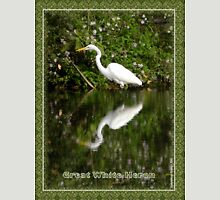 Great White Heron Hunting at Homosassa Springs Unisex T-Shirt