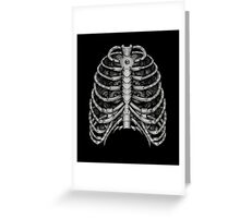 People front Bone silver  Greeting Card
