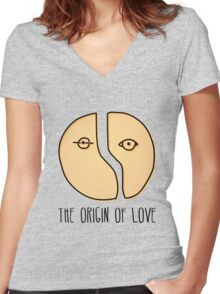 The origin of love Women's Fitted V-Neck T-Shirt