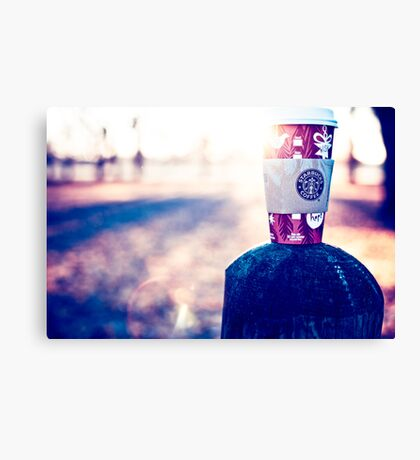 Behind every successful person…is a substantial amount of coffee. Canvas Print