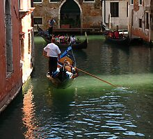Romantic Gondola in Venice by Yulia Manko