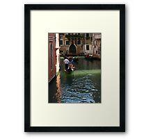 Romantic Gondola in Venice Framed Print