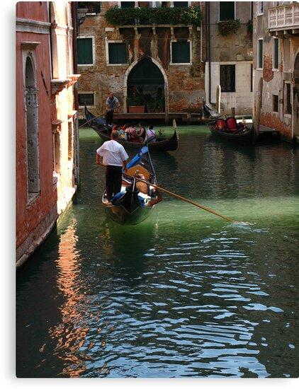 Romantic Gondola in Venice by Yulia Manko
