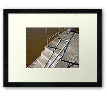 folding lines Framed Print