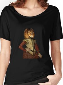 The Fancy Lion - A fun image of a Lion in Noble Attire Women's Relaxed Fit T-Shirt
