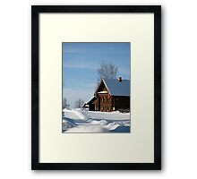 Welcome to Russian winter Framed Print