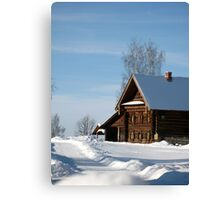 Welcome to Russian winter Canvas Print