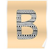 'B' Patterned Monogram Poster
