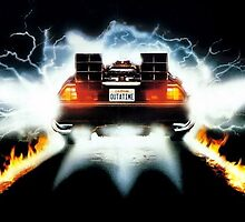 Back To the Future Fire Tracks by Donovan  Kinnee