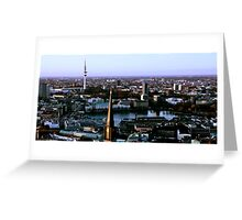 Inner Alster Lake from high above Greeting Card