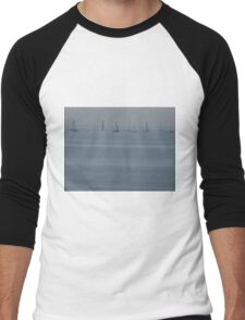 Sailing on Lake Michigan Men's Baseball ¾ T-Shirt