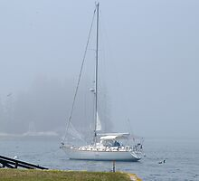 Foggy Morning - Boothbay Harbor, Maine by Corkle