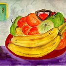 A Bowl of Good Fruit and Heavens Door by Anne Gitto