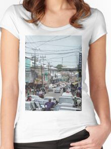 a vast Trinidad and Tobago landscape Women's Fitted Scoop T-Shirt