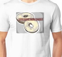 Less boys, more bagels Unisex T-Shirt