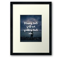 Winners Don't Quit Quote Framed Print