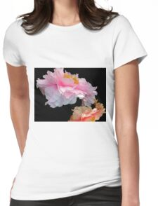 Pas de Deux Glowing Peonies Womens Fitted T-Shirt