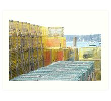 Lobster Traps, Boothbay Harbor, Maine Art Print