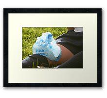 Iced Knee Framed Print