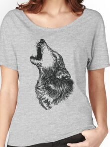 Wolf Sketch Women's Relaxed Fit T-Shirt