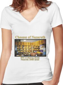 Cheeses of Nazareth Women's Fitted V-Neck T-Shirt