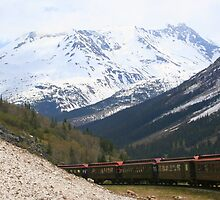 Train in the Alaskan Mountains ** by Laurel Talabere