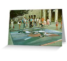 Sidewalk Art. Greeting Card