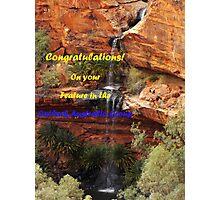Kings Canyon Outback Australia Group Banner Photographic Print