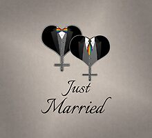 Just Married Tuxedo Hearts Tie and Bow Tie by LiveLoudGraphic