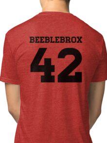 Beeblebrox Sports Jersey Tri-blend T-Shirt