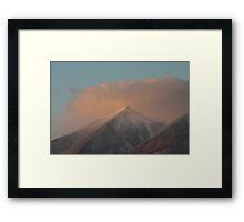 Sunset Snowstorm Framed Print