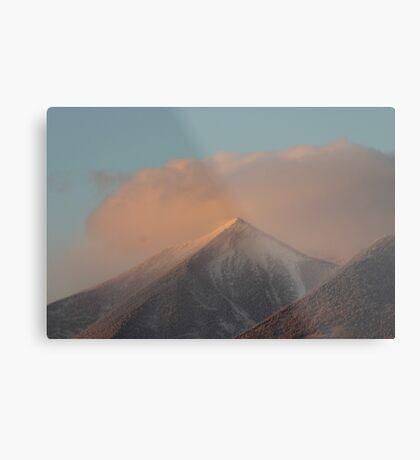 Sunset Snowstorm Metal Print