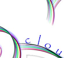 Abstract cloud on mauve with typography Sticker