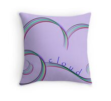 Abstract cloud on mauve with typography Throw Pillow