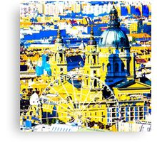 Budapest: Basilica and the Eye - in colour  Canvas Print
