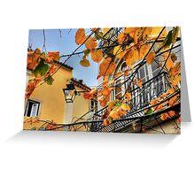 Sintra leaves... Greeting Card