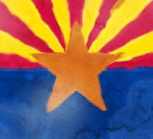 Watercolor Arizona Flag Sticker
