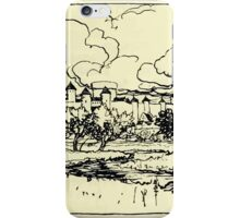 The romance of King Arthur and his knights of the Round Table art Arthur Rackham 1917 0117 Camelot iPhone Case/Skin
