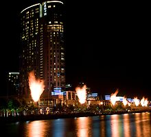 Crown Casino Flames, Melbourne by Darren Greenwell