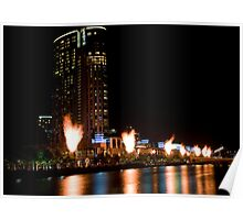 Crown Casino Flames, Melbourne Poster