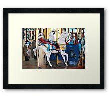 Silver Beach Carousal Framed Print