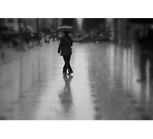 Dancing in the rain on the Champs-Élysées (Paris, France) Photographic Print
