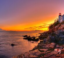 Bass Harbor Sunset by JHRphotoART