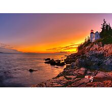 Bass Harbor Sunset Photographic Print