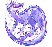 Blue Velociraptor by miaouler