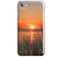 sunset over lake Huron iPhone Case/Skin