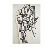Sculpture drawing Art Print