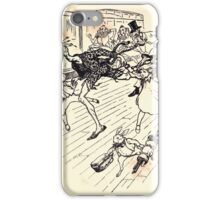 The Zankiwank & the Bletherwitch by Shafto Justin Adair Fitz Gerald art Arthur Rackham 1896 0008 Train Rush iPhone Case/Skin