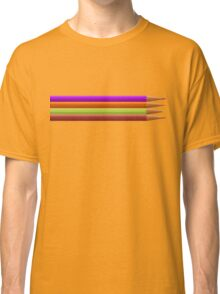 Colored pencils on yellow background Classic T-Shirt