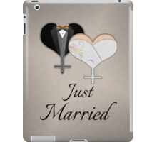 Just Married Dress and Tux Hearts Bow Tie iPad Case/Skin